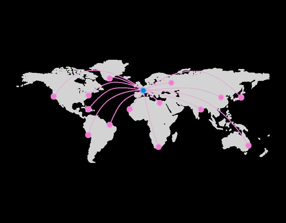 Channel Manager Novaresa World Map